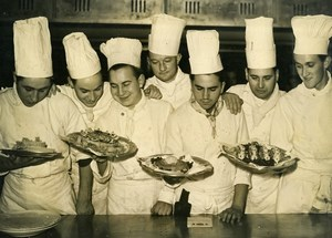 France Paris Cooks Gastronomy School award of Newfoundland Price Old Photo 1948