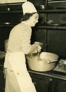 France Paris Salle Iena Antoinette Payen elected Miss Cordon Bleu Old Photo 1948