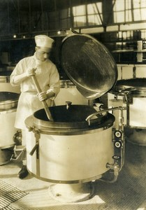 France Paris Beaujon Hospital Monumental Kitchen Old Photo 1930