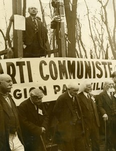 France Vincennes May Day Pioneers of Communism Meeting Old Photo 1934