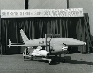 USA Teledyne Ryan Aeronautical BGM-34B Drone US Air Force Old Photo 1973