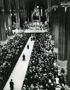 USA New York St Patrick's Cathedral Easter Mass Religion Old Photo 1956