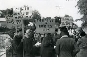 USA Greensboro Strike Textile Mill Unions FSA Photo Jack Delano 1941 Later Print