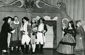 USA Grass Roots Opera Raleigh Barbieri di Siviglia Rossini Old Photo 1958