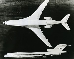 USA Nasa Flight Research Center Boeing 767 Airliner Aviation Old Photo 1974