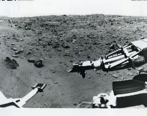 USA Space Exploration Martian Surface Mars Panorama Old Photo NASA 1976