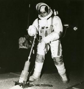 Moon Space Astronaut Harrison Schmitt Training Aseptic Sampler NASA Photo 1969