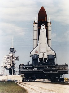 USA Kennedy Space Center Shuttle Endeavour Launch Pad 39B Old Photo NASA 1992