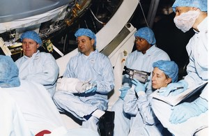 Space STS-98 Atlantis Robert Curbeam Marsha Ivins Tom Polansky NASA Photo 2000