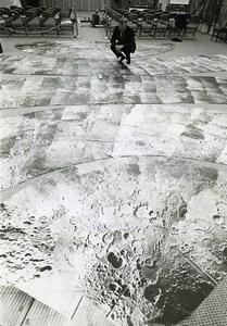 Washington DC NASA Headquarters Space Study of Moon Surface Old Photo 1968