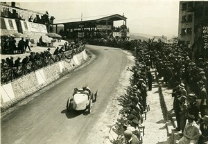 Sicile Palerme Course Targa Florio Pilote Costantini Voiture Bugatti ancienne Photo Rol 1925