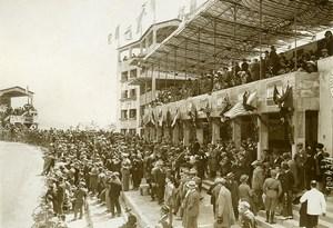 Sicile Palerme Course Targa Florio les tribunes ancienne Photo Rol 1925