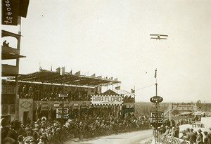 Sicily Palermo Targa Florio Race the Stands Flying Airplane Old Photo Rol 1925