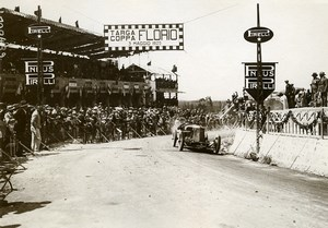 Sicile Palerme Course Targa Florio Pilote Ginaldi sur Alfa Romeo ancienne Photo Rol 1925