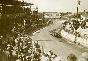 Sicily Palermo Targa Florio Race Pilot Cosana car Alfa Romeo Old Photo Rol 1925