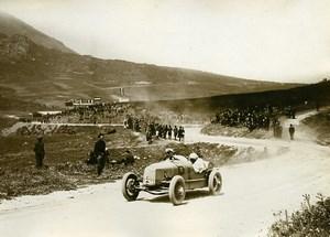 Sicile Palerme Course Targa Florio Pilote Karl Spooner sur Tatra ancienne Photo Rol 1925