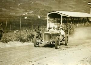 Sicile Palerme Course Targa Florio Pilote Dauvergne sur Peugeot ancienne Photo Rol 1925
