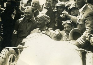 Sicily Palermo Targa Florio Race Pilot Costantini car Bugatti Old Photo Rol 1925