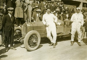 Sicily Palermo Targa Florio Race Pilot Boillot car Peugeot Old Photo Rol 1925