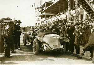 Sicily Palermo Targa Florio Race Pilot Casano car Alfa Romeo Old Photo Rol 1925