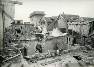 France Reims Ruins WWI First World War Old Photo Wentzell 1919