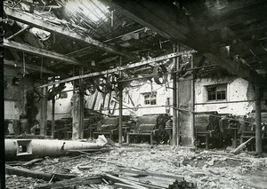 France Reims Ruins WWI First World War Factory Interior Old Photo Wentzell 1919