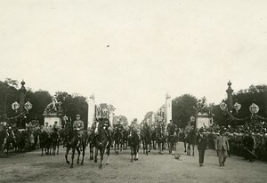 France Paris WWI Victory Parade Marechal Joffre & Foch Old Photo Trampus 1919