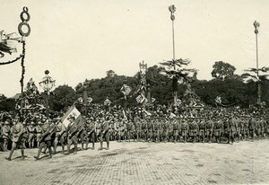 France Paris WWI Victory Parade Italian Navy Marines Old Photo Trampus 1919