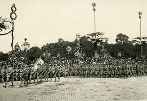France Paris WWI Victory Parade Italian Navy Marines Old Photo Trampus 1919
