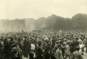 France Paris post War Crowd Parade Old Photo Trampus 1919