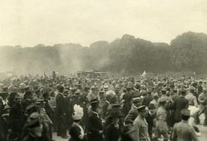 France Paris post War Crowd Parade Old Photo Trampus 1919