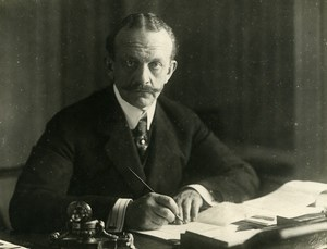 WWI Versailles Peace Treaty Portrait of Count Bernstorff Old Photo Trampus 1919