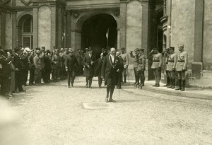 WWI Saint Germain Castle Peace Treaty Signature Austria Old Photo Trampus 1919