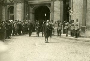 WWI Saint Germain Castle Peace Treaty Signature Austria Old Photo Trampus 1919