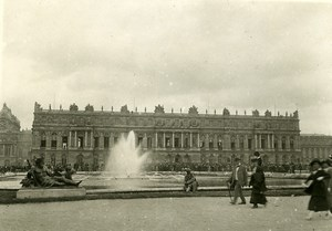 WWI Versailles Hall of Mirrors Peace Treaty Signature Old Photo Trampus 1919