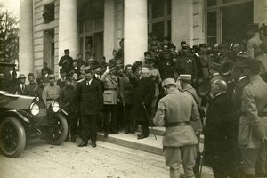 WWI Versailles Peace Treaty Signature Orlando Italy Old Photo Trampus 1919