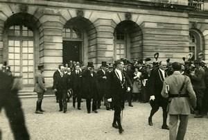 WWI Versailles Peace Treaty Signature Clemenceau & Wilson Photo Trampus 1919