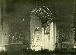 France Paris Arc de Triomphe Cenotaph WWI Victory Old Photo Trampus 1919