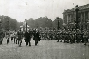France Paris 4th of July Parade Clemenceau Poincare Pershing Photo Trampus 1919