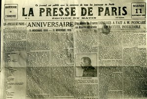 France Paris Typographer Strike Presse de Paris Newspaper Old Photo Trampus 1919