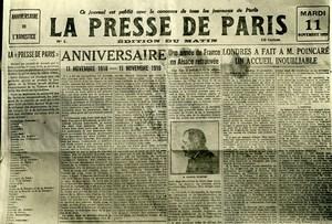 France Paris Typographer Strike Presse de Paris Newspaper Old Photo Trampus 1919