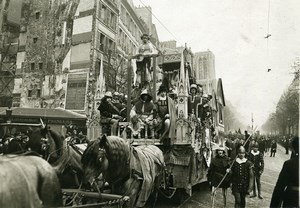 France Paris Easter Mid Lent Carnival Students Float Old Photo Trampus 1919