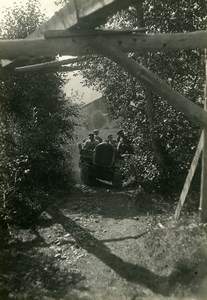 France Jura Mont d'Arbois Climbing by Tank Old Photo Trampus 1920