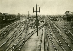 United Kingdom Stratford Train Station Railway Strike Old Photo Trampus 1920