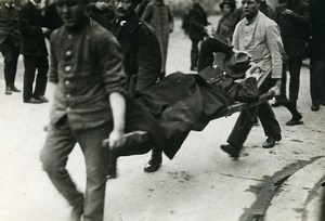 Germany Spartacist uprising Workers protest Old Photo Trampus 1919