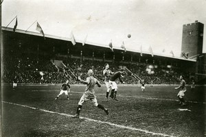 Sweden Stockholm Football match Sweden Denmark Old Photo Trampus 1920