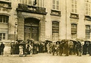 France Avignon Prefecture Flood Victims Protesting Old Photo 1936