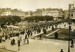 France Le Havre Strike Protest of Front Populaire Old Photo June 1936