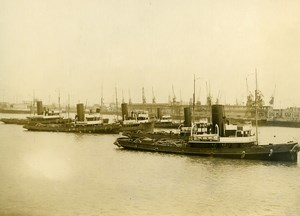France Le Havre Harbour Tugboats Workers Strike Old Photo 1936