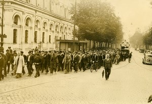 France Bordeaux General Strike Registred Seamen Marine Old Photo 1937
